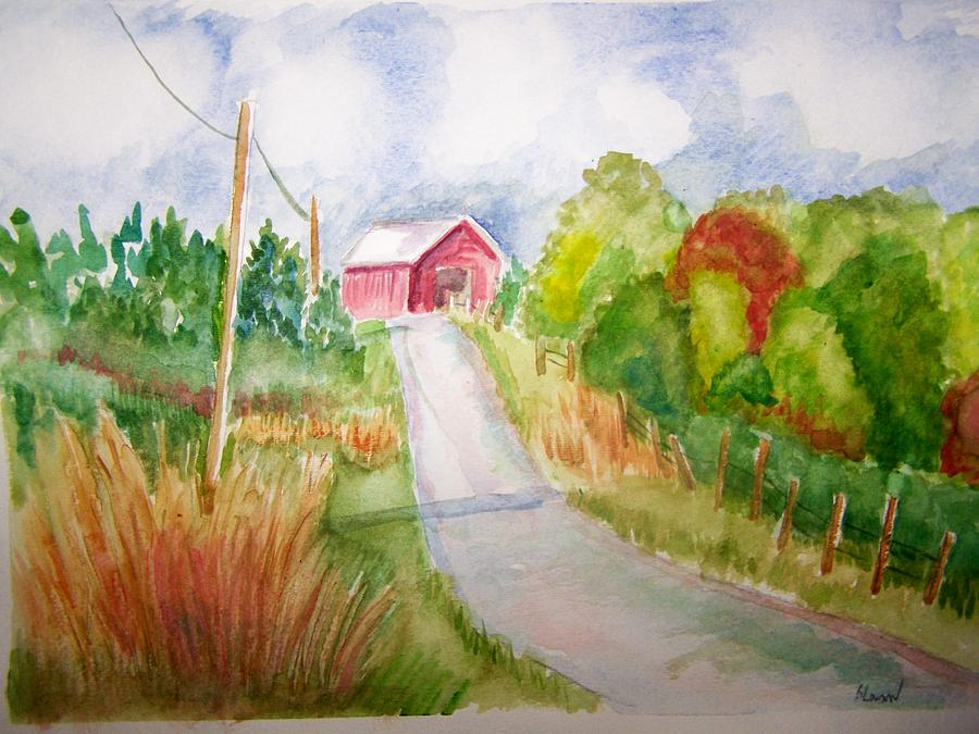 Country Landscape Painting - A Drive In The Country by Belinda Lawson
