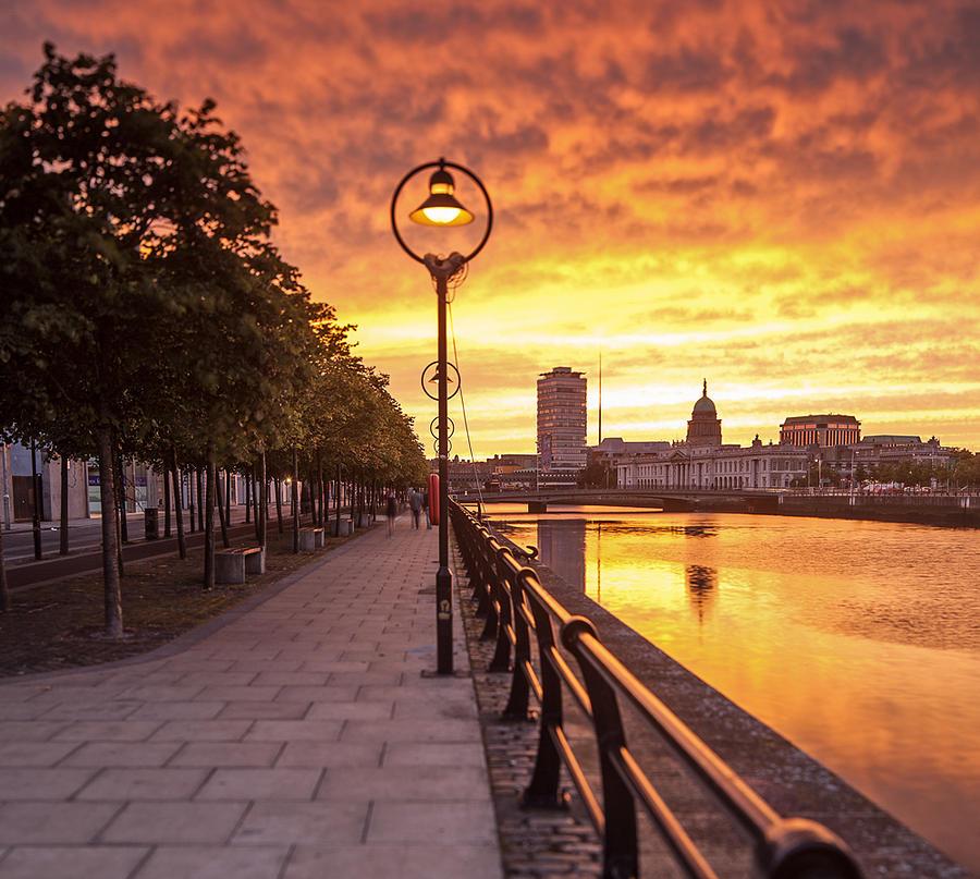 Sunset Photograph - A Dublin Sunset by Brendan O Neill