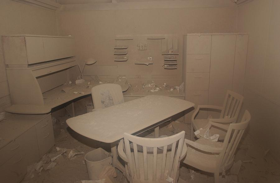 2000s Photograph - A Dust Covered Office In Building by Everett