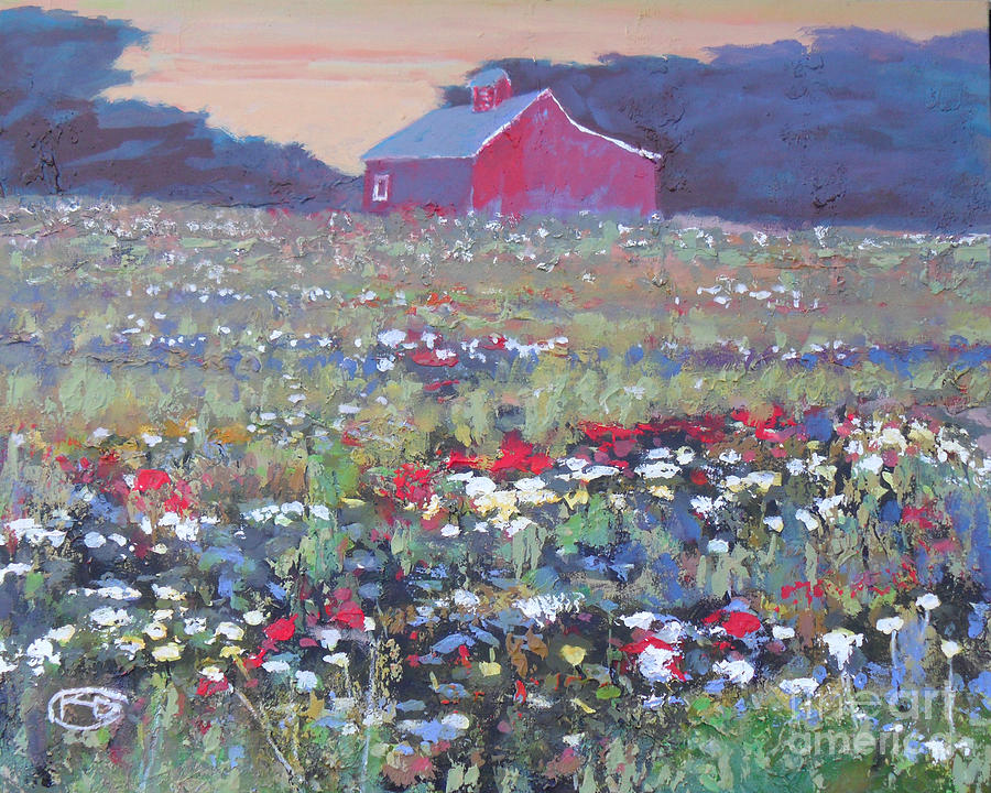 A Field Of Flowers Painting By Kip Decker