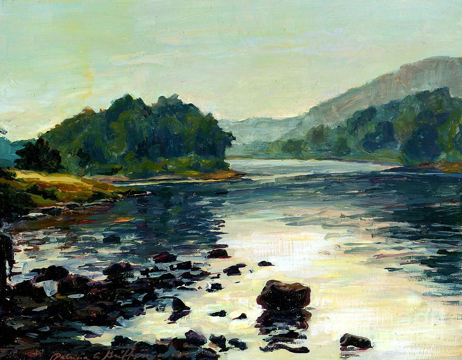 Delaware River Painting - A Fine Friend by Patricia A Griffin