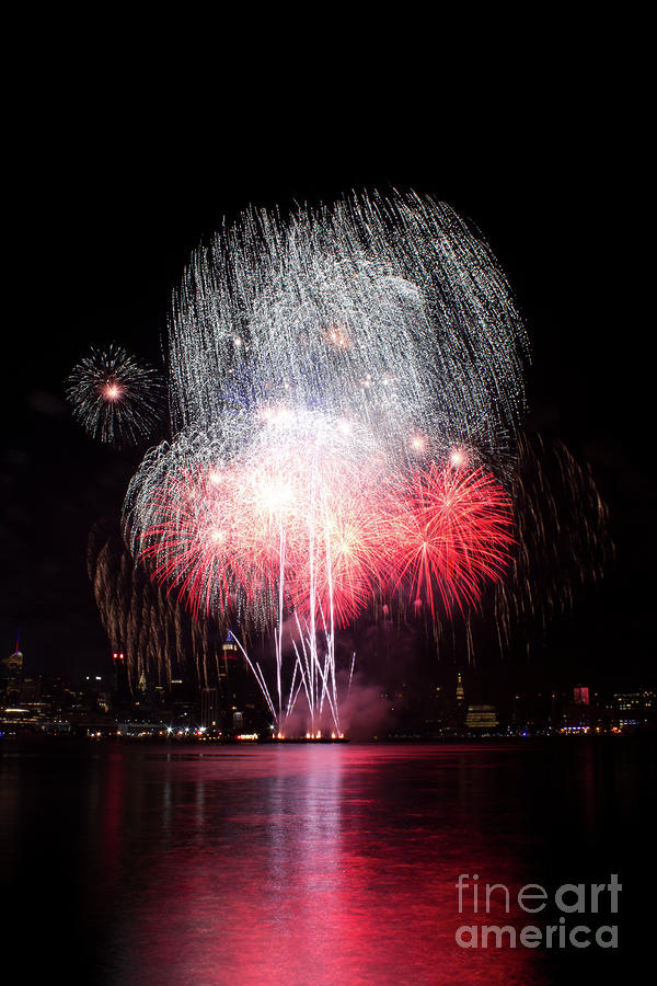 Manhattan Photograph - A Firework Shower by Archana Doddi