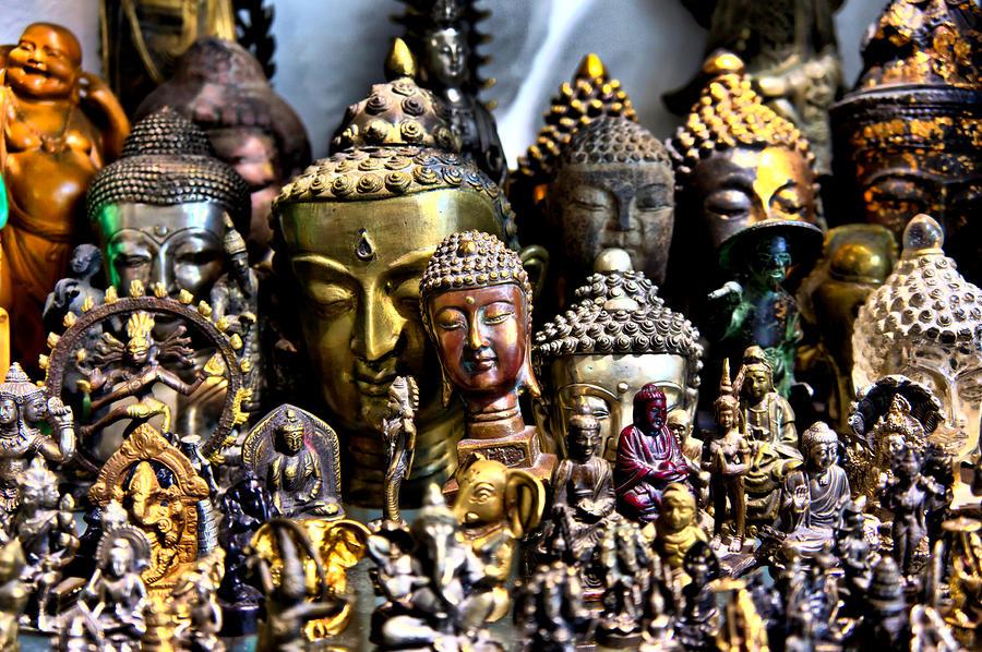 Buddha Photograph - A Gathering of Buddhas by Edward Myers
