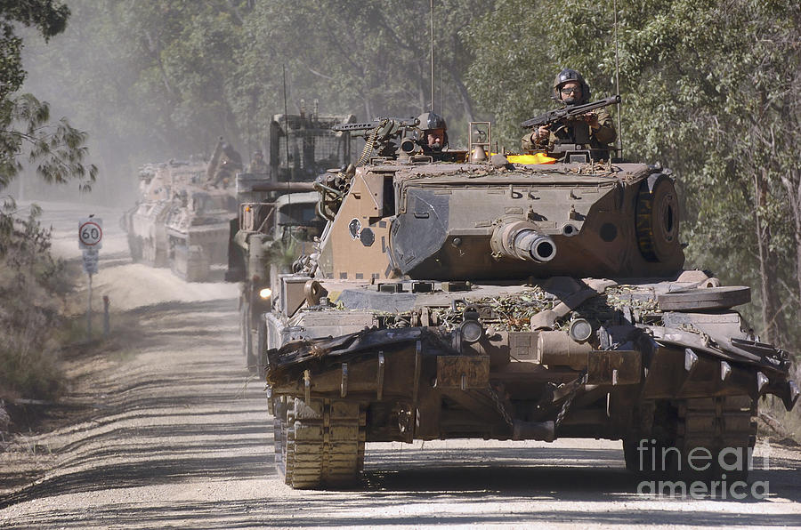 Australia Photograph - A German Designed Leopard As1 Gun Tank by Stocktrek Images