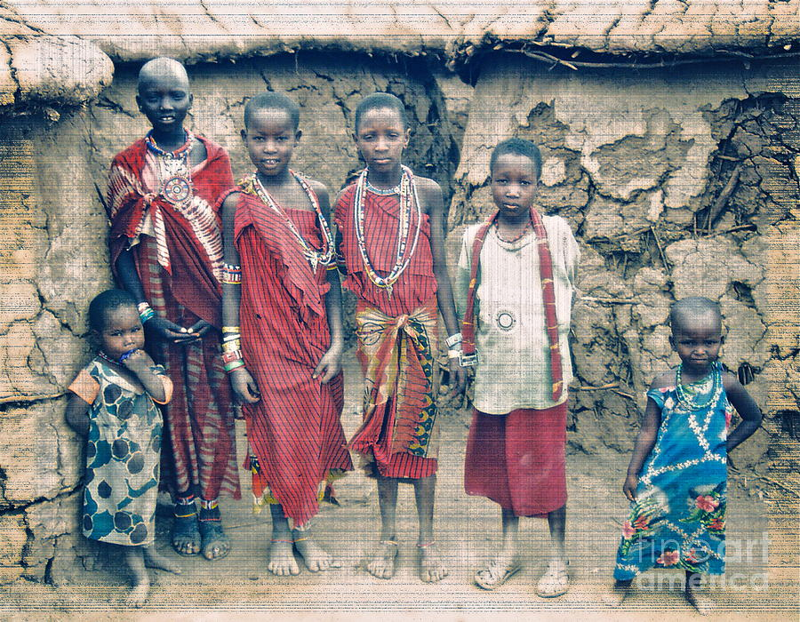 Maasai Photograph - A Gift by Gwyn Newcombe