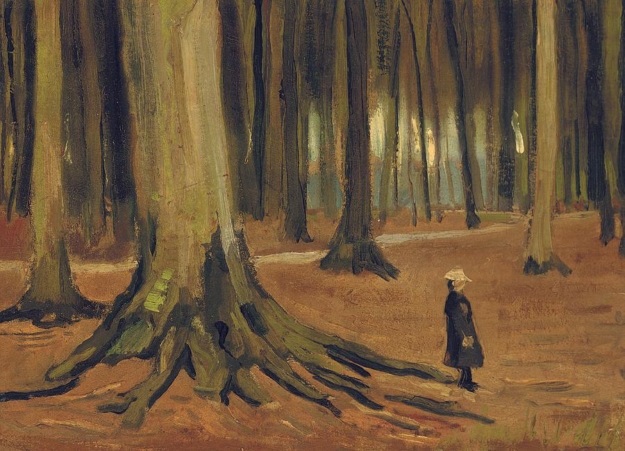 Vincent Van Gogh Painting - A Girl In A Wood by Vincent van Gogh