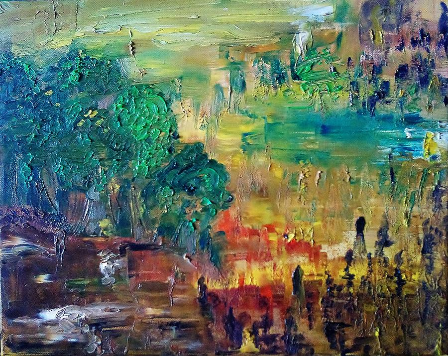 Glimpse Painting - A Glade In The Woods by Derya  Aktas