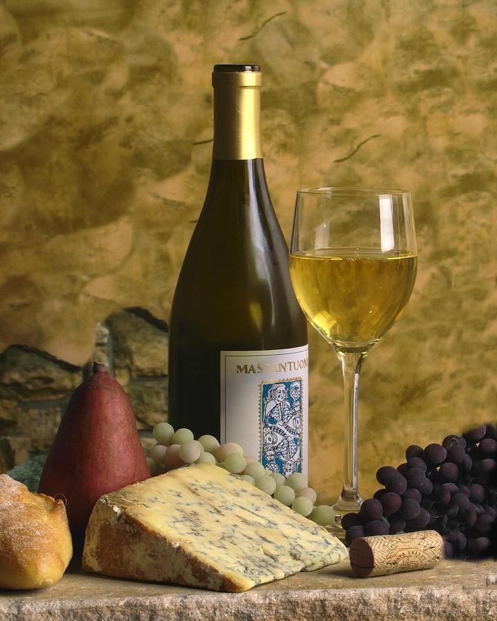 Wine Photograph - A Glass Of Chardonay by Mel Felix