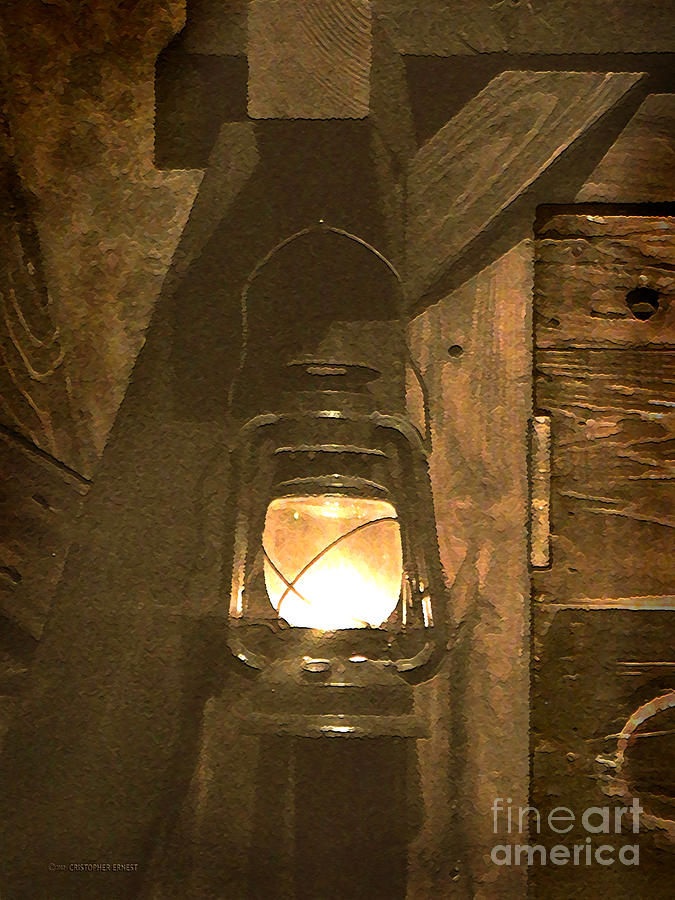 Lantern Photograph - A Guiding Light by Cristophers Dream Artistry