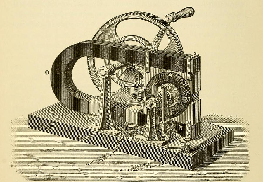 History Photograph - A Hand Cranked Device Onsisting by Everett