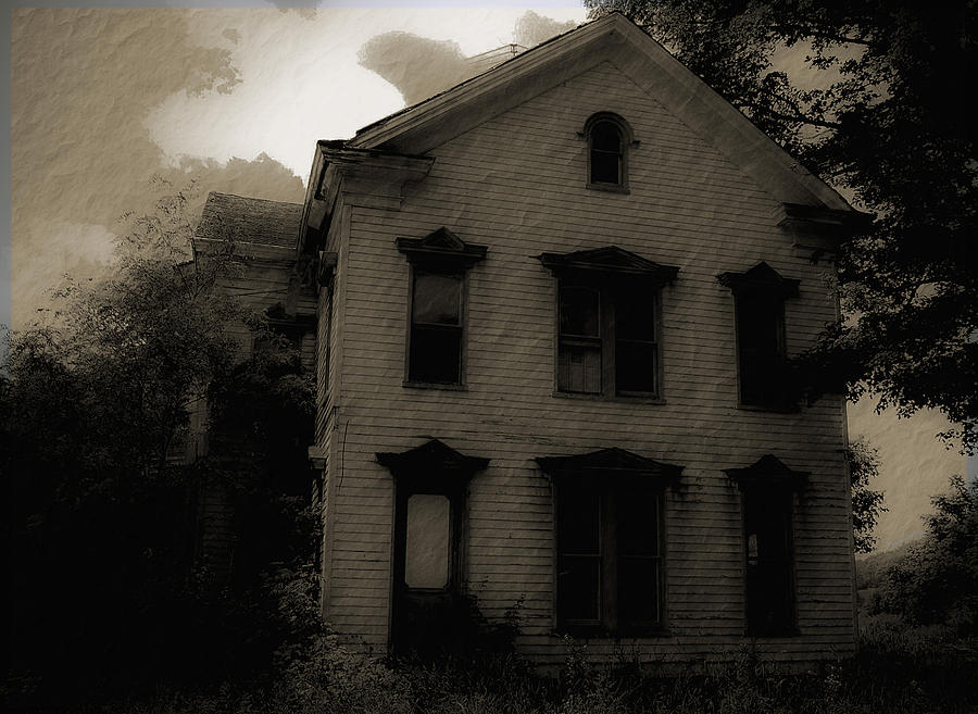 House Photograph - A Haunting by DigiArt Diaries by Vicky B Fuller