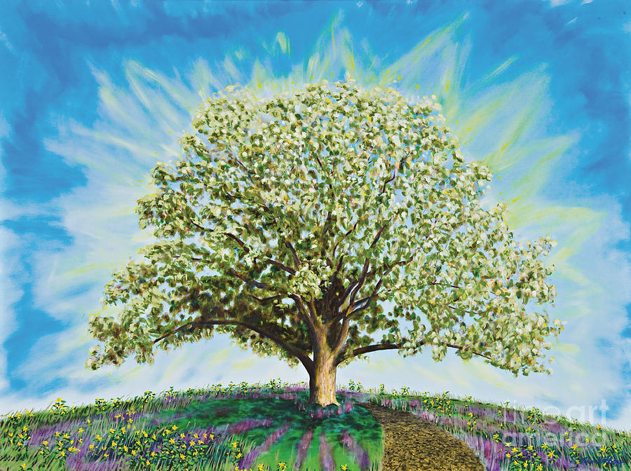 Tree Painting - A Heart at Peace by Aaron Wilbers