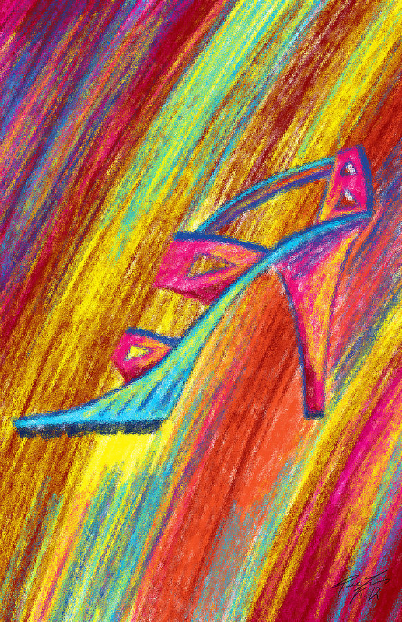 High Heels Painting - A High Heel by Kenal Louis