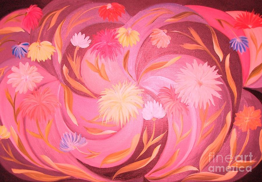 Flowers Painting - A Hint Of Blue by Rachel Carmichael