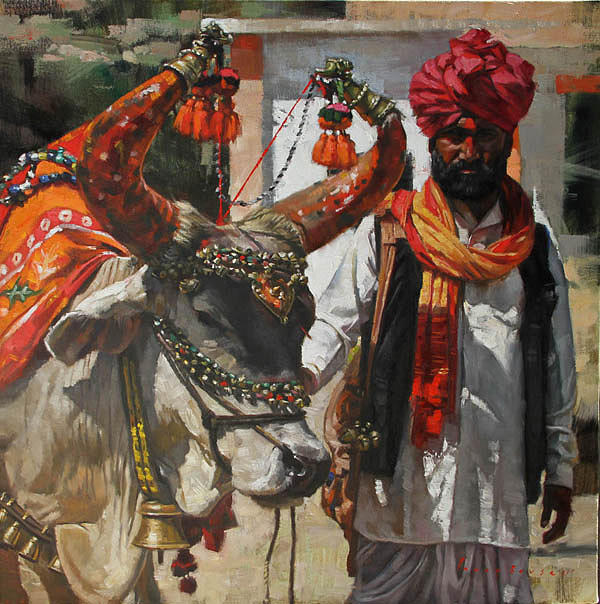 A Horned Fortune-teller  Painting by Parag Borse