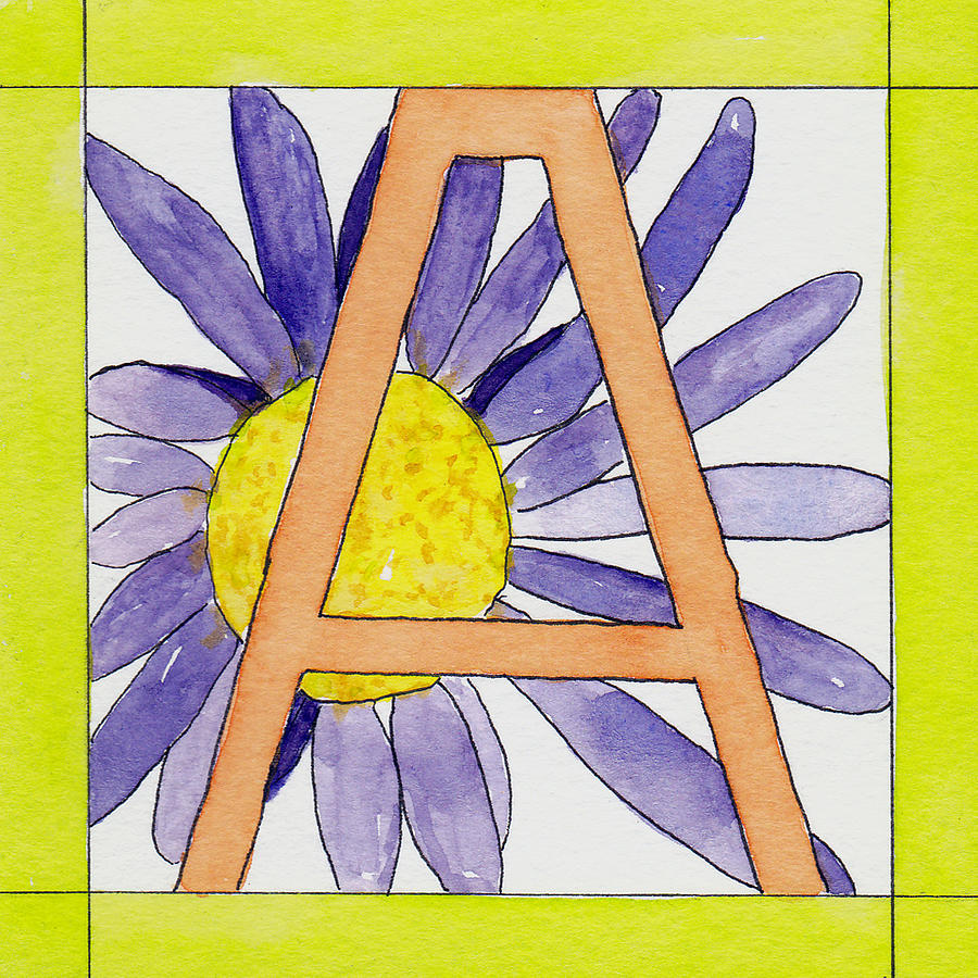 Aster Painting - A Is For Aster by Lynne Furrer