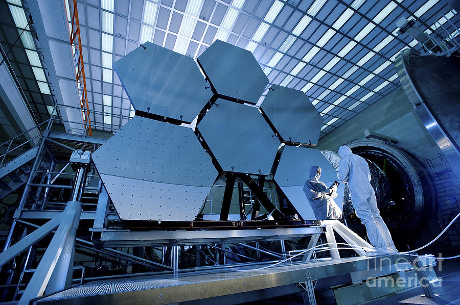 Experiment Photograph - A James Webb Space Telescope Array by Stocktrek Images