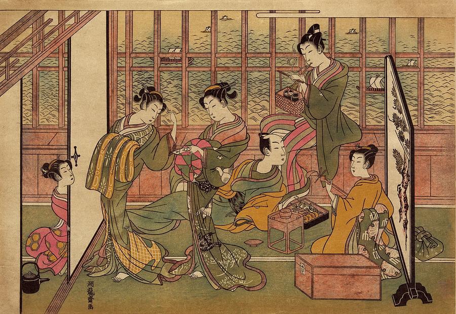 History Photograph - A Japanese Brothel In Shinagawa, Shows by Everett