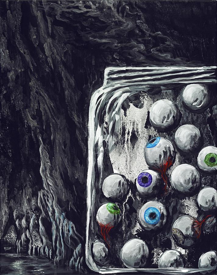 Jar Painting - A Jar Of Eyeballs by David Junod