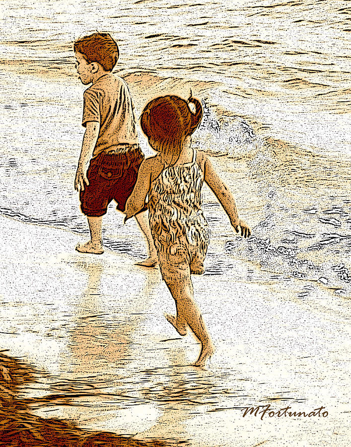 A Jog In The Sand by Margaret Fortunato