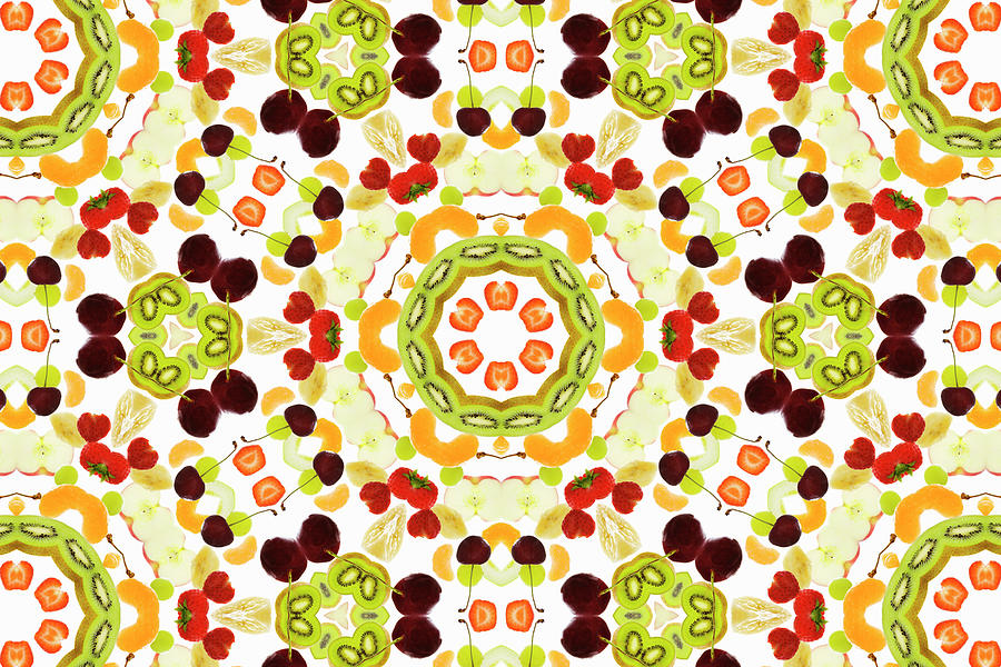 A Kaleidoscope Image Of Fresh Fruit Photograph by Andrew Bret Wallis