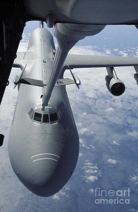 Aerial Photograph - A Kc-10 Extender Prepares To Refuel by Stocktrek Images