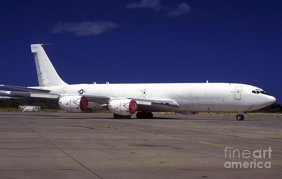 Military Photograph - A Kc-135 Stratotanker At Hickham Air by Michael Wood