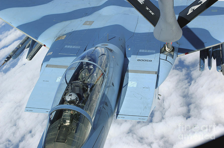 Adults Only Photograph - A Kc-135 Stratotanker Provides by Stocktrek Images