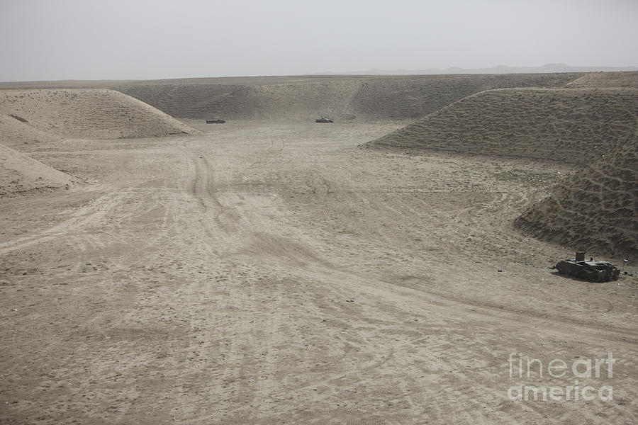 Afghanistan Photograph - A Large Wadi Near Kunduz, Afghanistan by Terry Moore