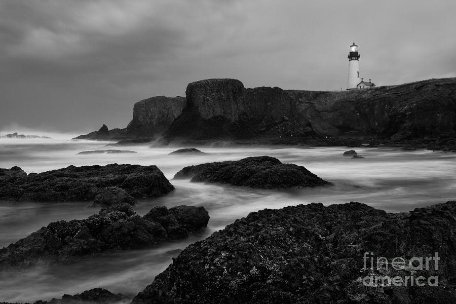 Water Photography Photograph - A Light In The Storm by Keith Kapple
