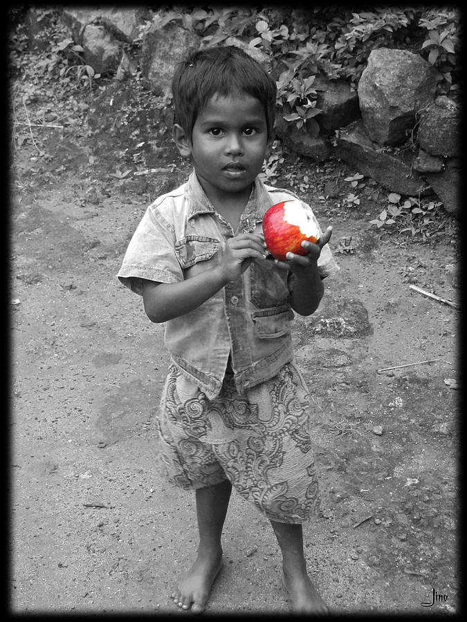 Small Boy Photograph - A Little Boy by Jino Blessil