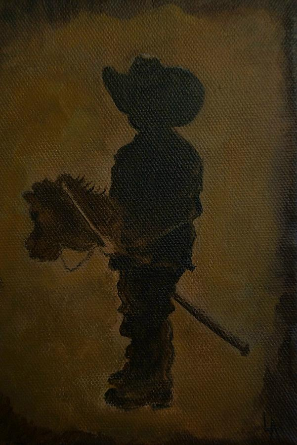 Little Boy Painting Painting - A Little Rider by Leslie Allen