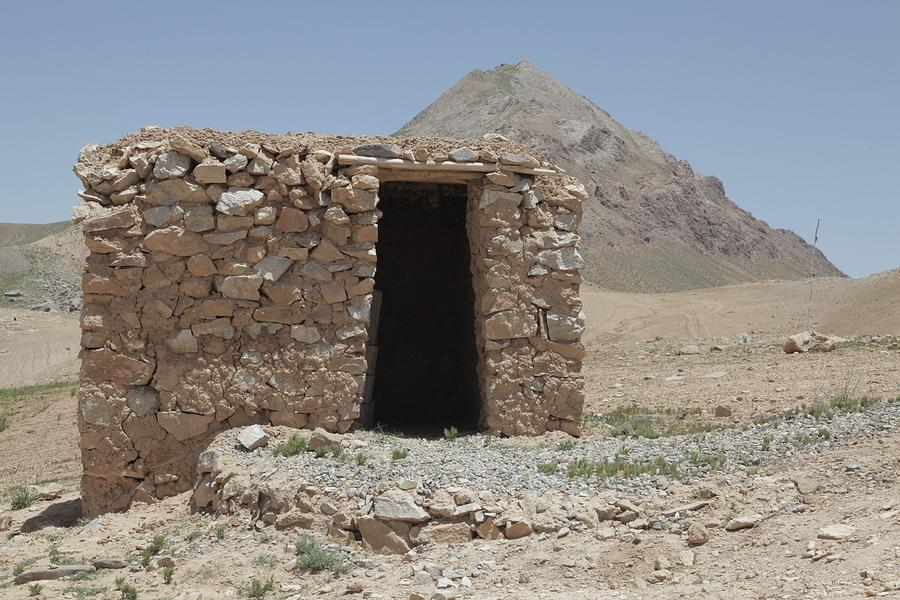History Photograph - A Local Afghan Hut In The Mountains by Everett