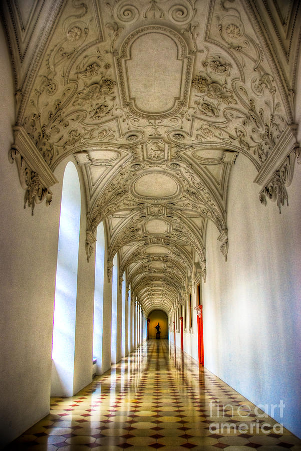 Corridor Photograph - A Long Way by Syed Aqueel