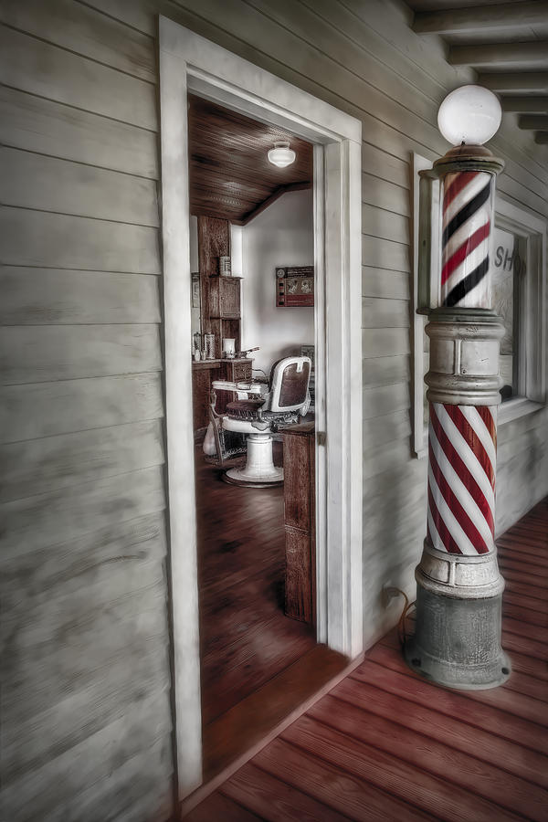 Barber Photograph - A Look Into The Past by Susan Candelario