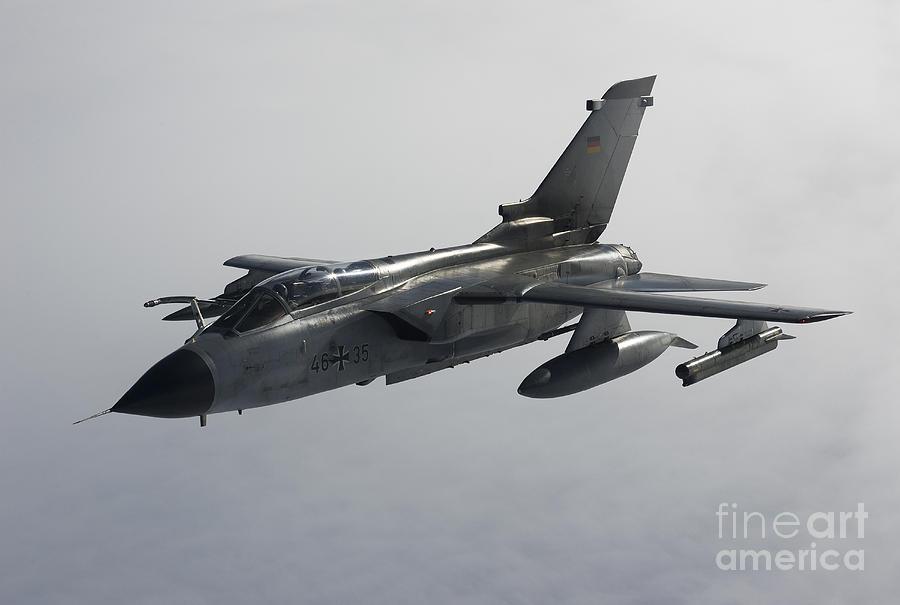 Germany Photograph - A Luftwaffe Tornado Ecr Over Northern by Gert Kromhout