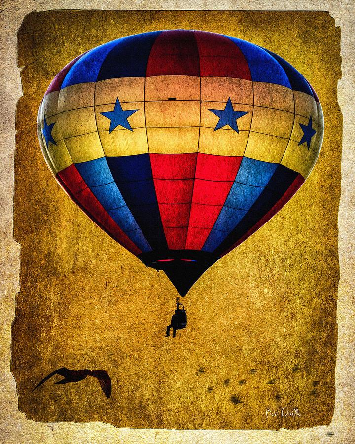 Vintage Photograph - A Man And His Balloon by Bob Orsillo