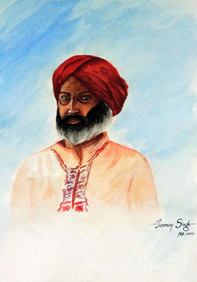 Indian Painting - A Man From Rajsthan by Tanmay Singh