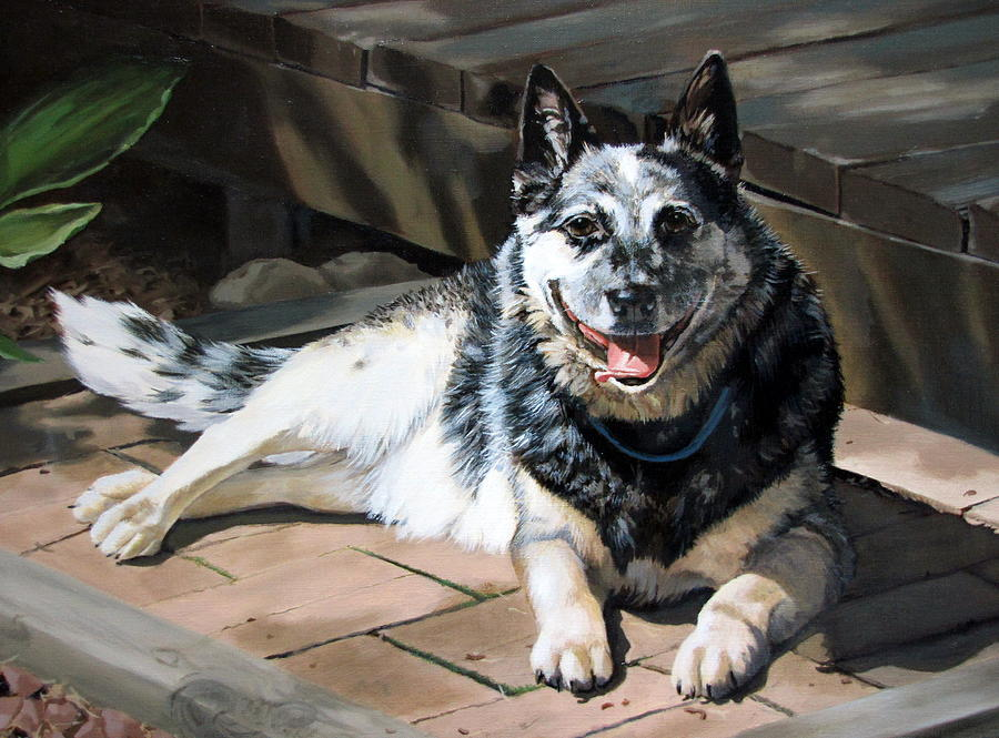 Dog Painting - A Mans Best Friend by Sandra Chase