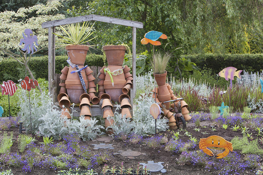 No People Photograph - A Marine Garden Area In The Childrens by Douglas Orton