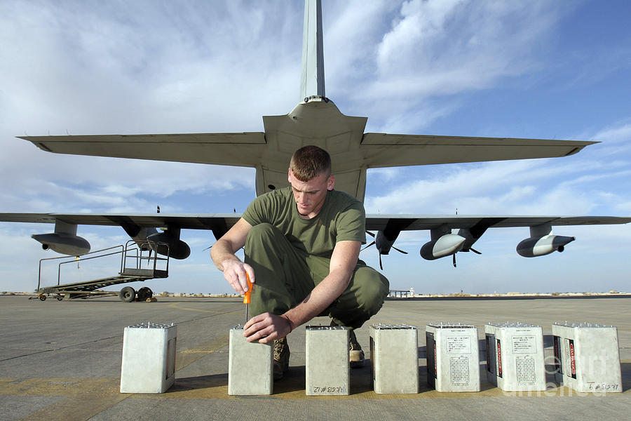 Aircraft Photograph - A Marine Replaces Flares In Flare by Stocktrek Images