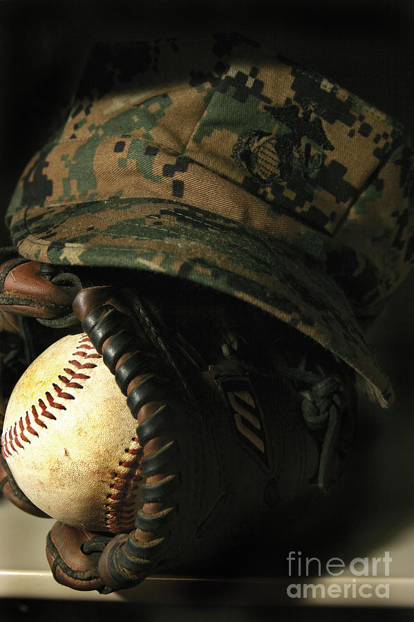 Athletes Photograph - A Marines Athletic Gear by Stocktrek Images