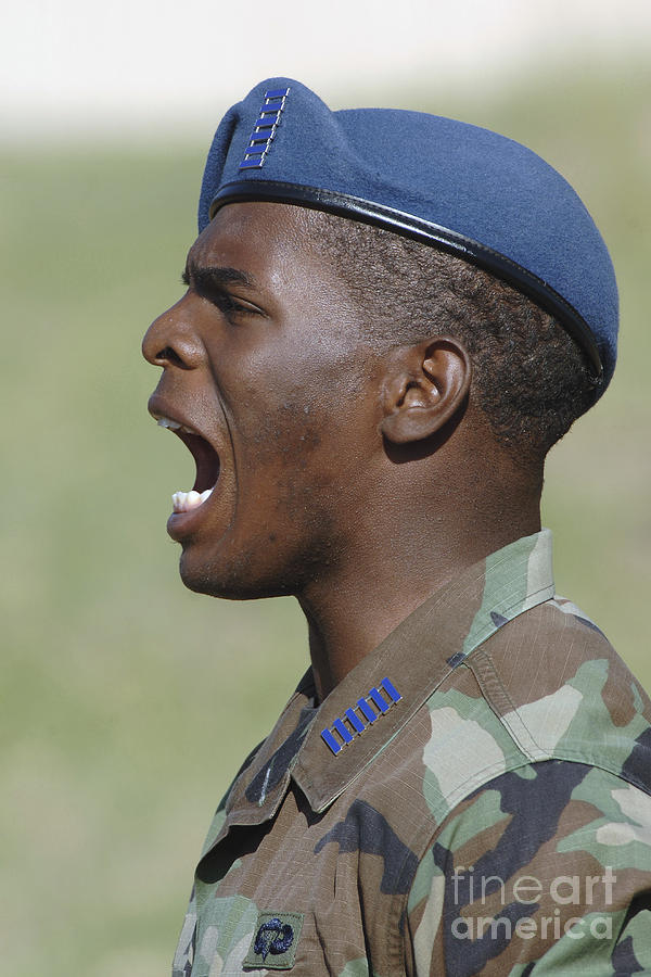 Beret Photograph - A Member Of The U.s. Air Force Academy by Stocktrek Images