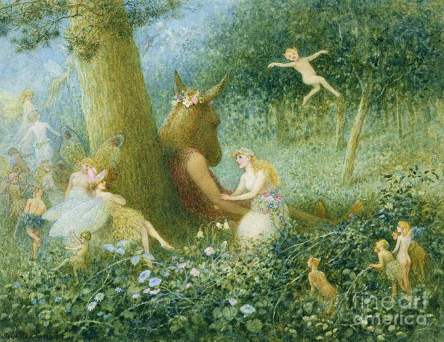 A Midsummer Night 39 S Dream Painting By Ht Green