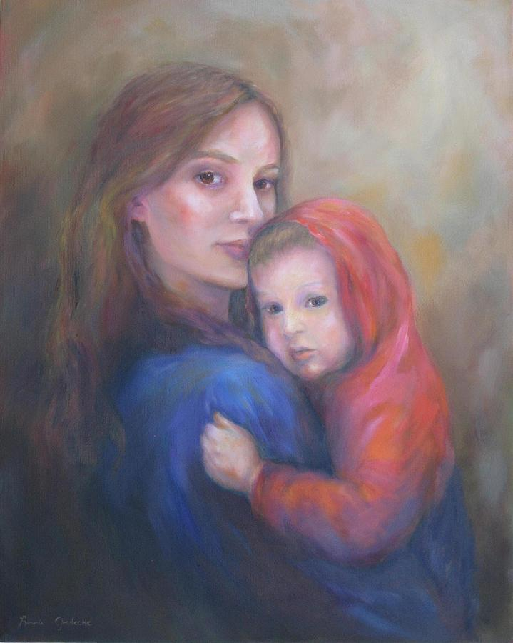 Portrait Painting - A Moment In Time by Bonnie Goedecke
