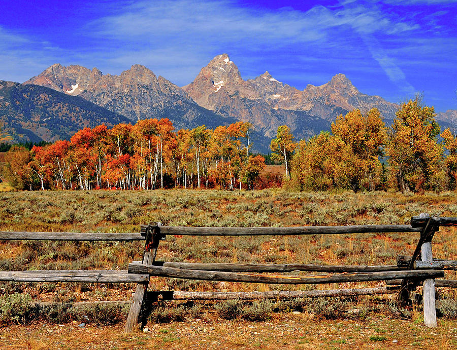Horizontal Photograph - A Moment In Wyoming In Autumn by Jeff R Clow