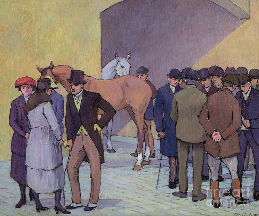 Morning Painting - A Morning At Tattersalls by Robert Polhill Bevan