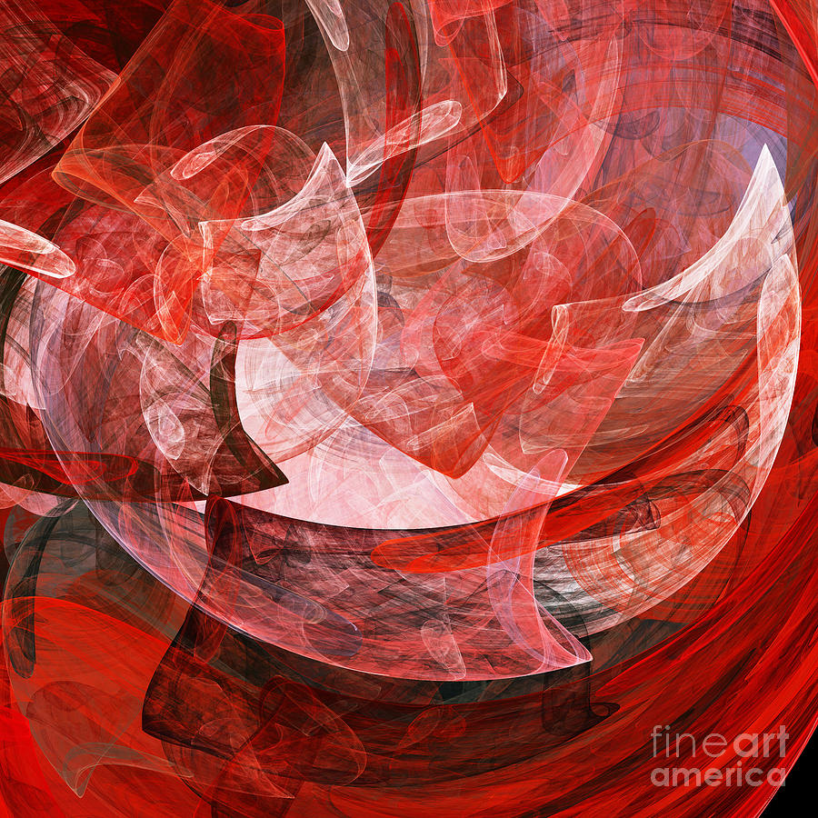 Fractal Digital Art - A Mothers Womb . Square . A120422.446 by Wingsdomain Art and Photography