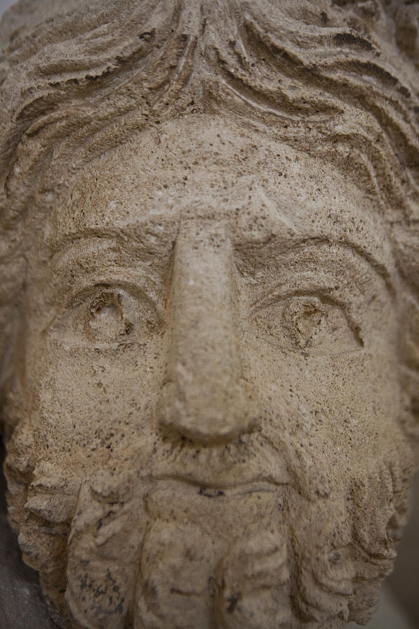 Amman Photograph - A Nabatean Bust Of Atargatis by Taylor S. Kennedy