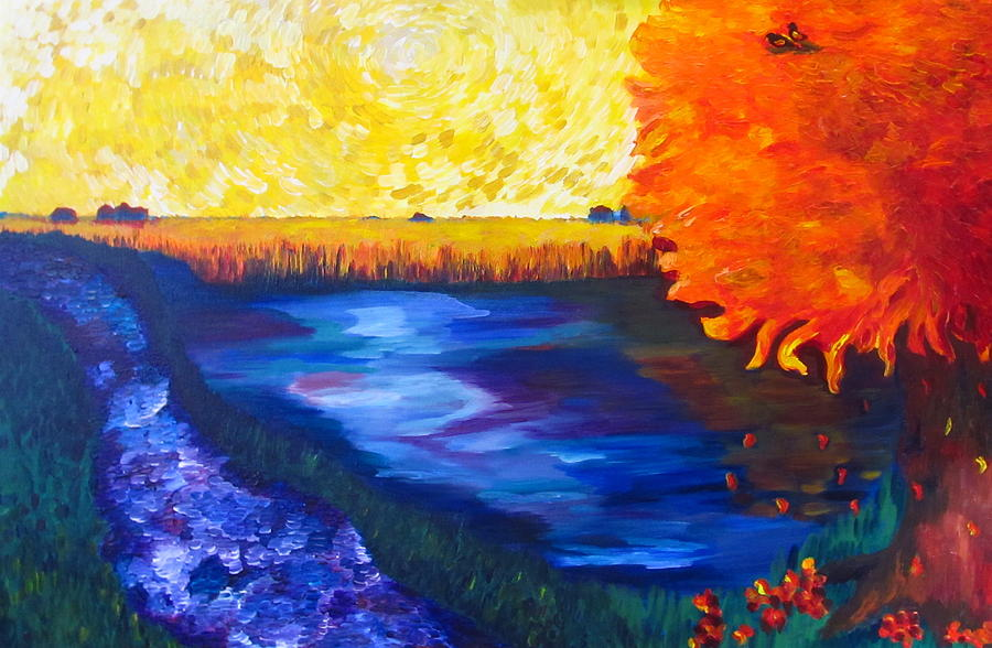 River Painting - A New Day by Dani Altieri Marinucci